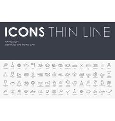 navigation Thin Line Icons vector image