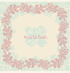 ornate floral invitation card vector image