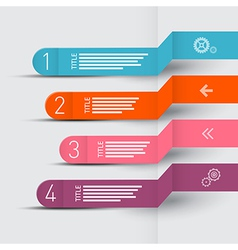 Paper Progress Steps for Tutorial Infographics vector image