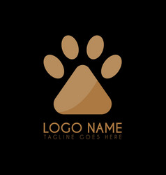 paw logo icon logo symbols abstract vector image