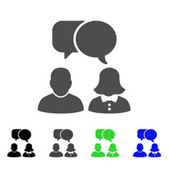 people chat flat icon vector image