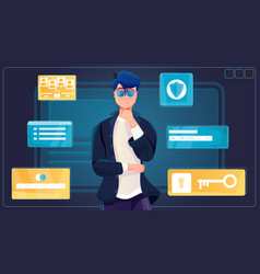 Personal information flat background vector