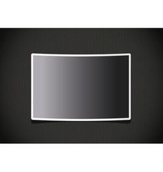 Photo frame on grid background vector image
