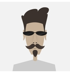 Portrait of mustachioed man in sunglasses vector image