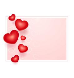 red hearts symbol vector image