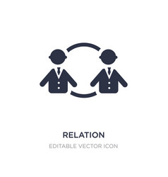 relation icon on white background simple element vector image