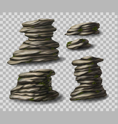 rock stones collection vector image