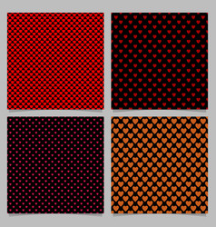 seamless heart pattern backgrounds- love concept vector image
