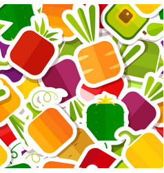 season vegetable patch style seamless pattern vector image