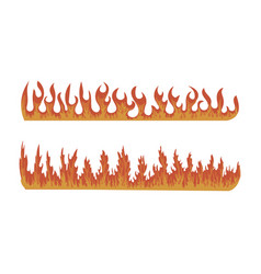 set fires collection fire walls vector image