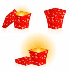 set from gift boxes vector image
