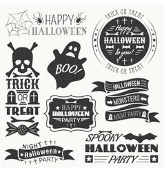 set halloween decorative elements vector image