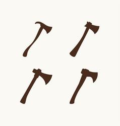 Set of axes for logo vector