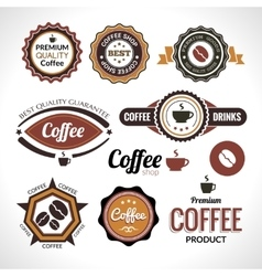 Set of coffee labels and badges Retro style vector image