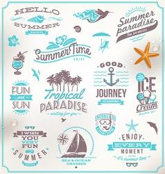 Set travel and vacation emblems and symbol vector