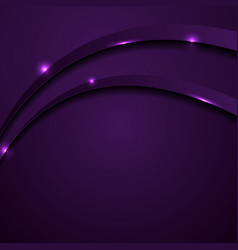 shiny dark purple abstract wavy background vector image