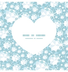 Shiny diamonds heart silhouette pattern frame vector