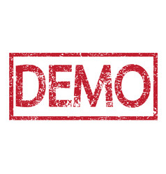 stamp text demo vector image