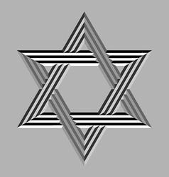 Stone carved david star vector