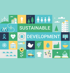 Sustainable development goals and living vector