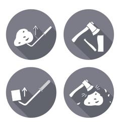 Tool icons set Axe hache pinchbar instrument vector