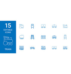 train icons vector image