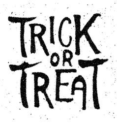 Trick or treat halloween theme hand drawn vector