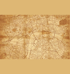 vintage street map city london vector image