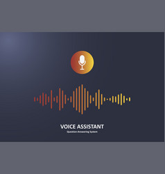 voice assistant vector image