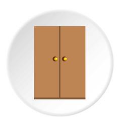 wooden wardrobe icon circle vector image