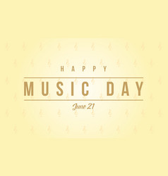 World music day background style vector