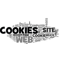 are cookies evil what service do cookies perform vector image