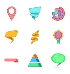 Graph icons set cartoon style vector image