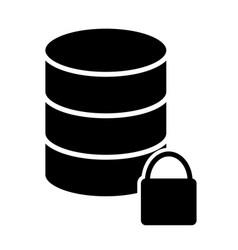 lock database icon simple minimal 96x96 pictogram vector image