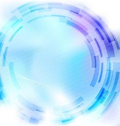 Modernistic mechanical blue gear background vector image vector image