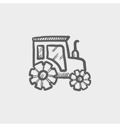 Offroad car sketch icon vector image