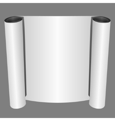 Roll of Blank White Paper vector image vector image