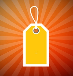 Orange Retro Star Shaped Background with Yellow vector image vector image