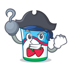 pirate yogurt character cartoon style vector image vector image