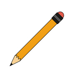 wooden pencil isolated vector image vector image