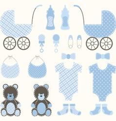 Baby Shower Boy Set vector image