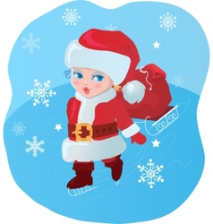 child santa vector image