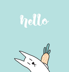 hello rabbit vector image