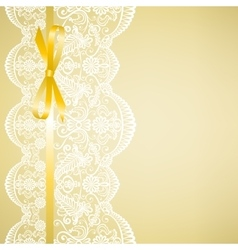 lace on yellow background vector image vector image