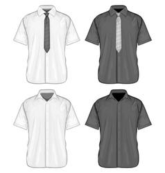Short sleeve dress shirts vector image