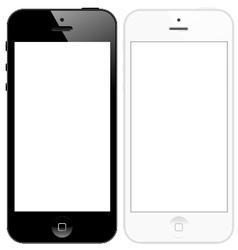 Smart phone five vector