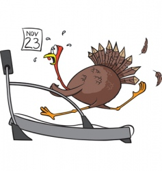 treadmill turkey vector image