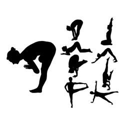 Yoga 2 vs vector image vector image