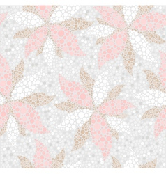 abstract seamless flower pattern vector image vector image
