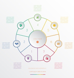 Circle from 7 coloured lines vector image vector image
